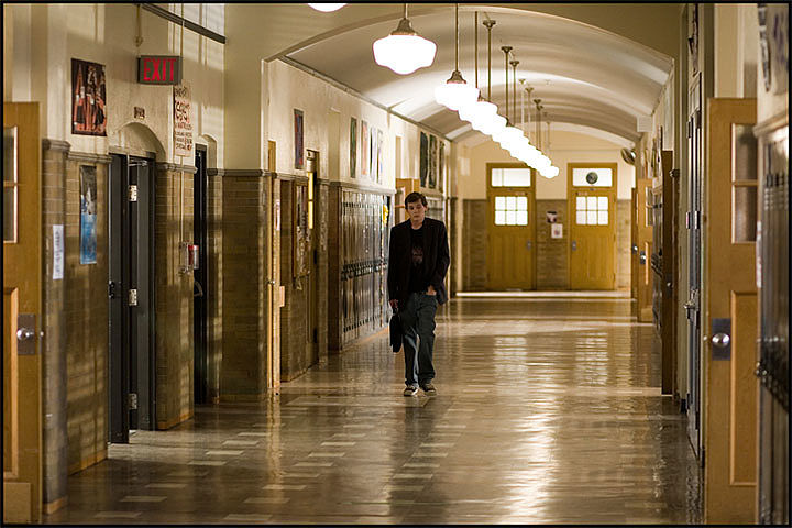 """Charlie Bartlett""   High School Corridor"
